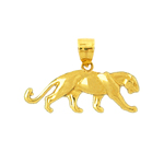 14k gold mountain lion charm