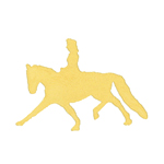 14k gold silhouette lady horse pendant