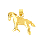 14 kt gold horse charm