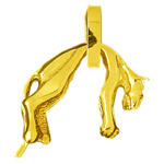14k gold 3d cat charm pendant