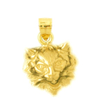 14k gold cat face charm
