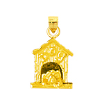 14k gold dog in dog house charm