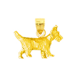 14k gold scottish terrier charm