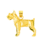 14k gold terrier pendant