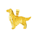 14k gold irish setters dog charm pendant