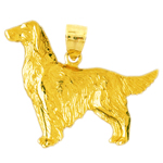 14k gold golden retriever pendant