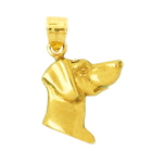 14k gold dog head silhouette charm