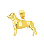 14k gold 3d boston terrier pendant