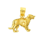 14k gold begging dog charm