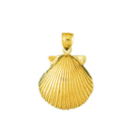 14k gold 11mm scallop shell mini charm