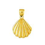 14k gold 12mm seashell charm