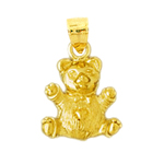 14k gold 3-d teddy bear charm