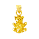 14k gold 3d teddy bear charm