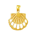 14k gold cut-out scallop shell charm