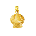 14k gold 15mm scallop shell charm