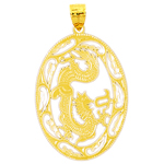 14k gold dragon medallion