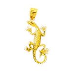 14k gold 25mm lizard charm pendant