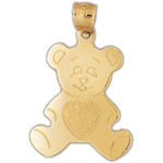14 kt gold teddy bear charm
