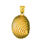 14k gold 13mm mollusk shell charm