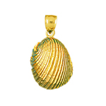 14k gold 12mm mollusk shell charm