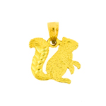 14k gold silhouette squirrel charm