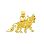 14k gold coyote calf charm