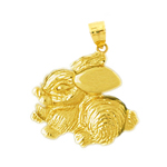 14k gold bunny rabbit pendant