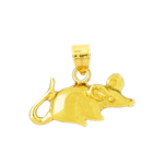 14k gold 18mm mouse charm