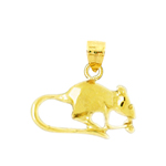 14k gold mouse charm
