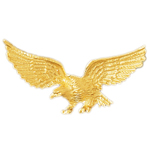 14k gold eagle slide