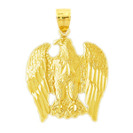 14k gold patriotic eagle pendant