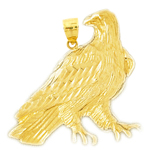 14k gold instinctive eagle pendant
