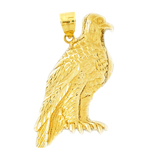 14k gold 35mm eagle pendant
