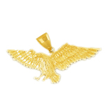 14k gold 45mm eagle pendant