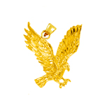 14 kt gold golden eagle pendant