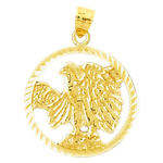 14k gold encircled eagle pendant