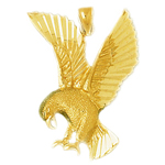 14k gold eagle pendant