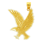 14 karat gold eagle pendant