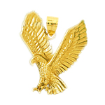 14k gold fierce eagle pendant