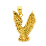 14k gold bird of prey eagle pendant