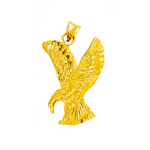 14kt gold eagle hunting pendant