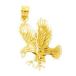 14 karat gold hunting eagle pendant