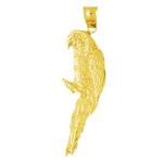 14k gold macaw pendant