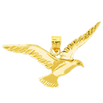 14k gold flying bird pendant