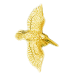 14k gold 40mm flying pelican charm pendant