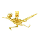 14k gold roadrunner pendant