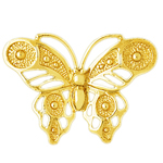 14k gold stylish butterfly charm pendant