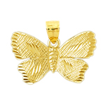 14k gold 23mm butterfly charm pendant