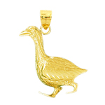 14k gold duck pendant