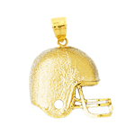 14k gold engravable football helmet charm pendant